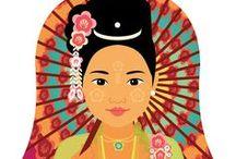 Burmese Tradtional dress