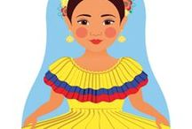 Colombian Culture / Some of the many cultures of Colombia in all their colorful beauty.