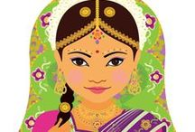 Multicultural Art / Cultural Art, Diversity Art, Prints, Kids art prints, Baby girl nursery art, Girls room decor, Nursery decor, Matryoshka art, Babushka art, Nesting doll art, Adoption gifts, Baby shower gifts, Gifts for girls