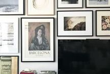 Art/Art Walls / Inspiration and ideas for bright, modern and traditional ways to display art in your home.