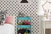 Girl's Bedrooms / Inspiration and ideas for bright, modern and traditional interior decorating ideas for a girl's room.