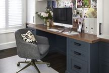 Home Office / Inspiration and ideas for bright, modern and traditional home office decor.