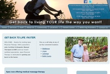 Physical Therapy Websites - Some of Our Designs / There are websites that we have done at www.e-rehab.com for physical therapists in private practice. / by E-rehab.com