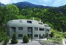 Dächer aus Zink / Diese Gebäude fallen besonders durch ihre imposante Eindeckung oder Fassade aus Titanzink auf.  / by Dach.de