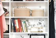 Closets / Inspiration and ideas for bright, modern and traditional closet design. Tips for organization of your closet, how to decorate your closet and unique closet storage ideas.