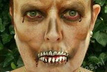 Horror, Wonden, Halloween / Hier vind je foto's van Halloween facepaint, Horror en Wonden. Made by Schminkkopies