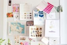 Inspiration and Moodboards / Before Pinterest, we had inspiration and mood boards! I love the way they look.