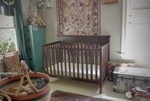 B A B Y S P A C E S / ECLECTIC, FUNCTIONAL BEDROOMS AND PLAYROOMS FOR BABIES - PRESCHOOLERS (always remember safety comes before design: make sure vintage painted pieces are tested for lead, secondhand furniture and gear checked for recalls, and ALL furniture bolted to wall...even small pieces).  #baby #nursery #nurseries #cribs #babyshowers / by Matoaka Garner