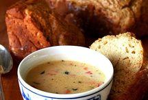Soup, Salad, Sandwich  / I love soup.