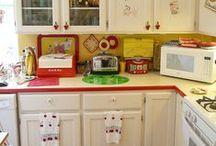 Kitchens, Baths / decorating, vintage,  / by Kim Vacco