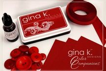 Color Companions by Gina K. Designs / Visit www.ginakdesigns.com and click on the Color Companions button for ink pads, re-inkers, buttons and ribbons that coordinate with our Pure Luxury Card Stock.