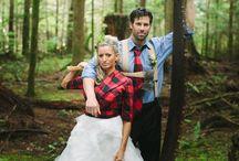 { Up North Woodland Wedding } / Up North lumberjack and sweater themed autumn wedding