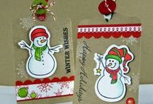 Christmas Cards / Christmas card ideas using Gina K. Designs stamps. Available at http://www.ginakdesigns.com