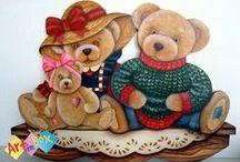 My work / Country painting, Applique, Crochet and others ...