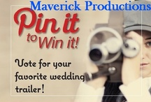 Pin It to Win It: Maverick Productions / Let Your Voice Be Heard: Help Choose Our Top DC-MD-NVA Wedding Videographer (Pinterest Contest) Gorgeous, cinematic wedding videos are a huge trend right now with brides and grooms—wedding movie trailers let you peek and see! Our DC-Baltimore area wedding videographers are some of the best in the business, and we want to share their talent with you!  Here at Perfect Wedding Guide, we need your help in selecting the Next Top Wedding Videographer. Your pin activity will determine our winner!