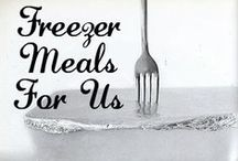 Freezer Meals / Make ahead meals to prepare, freeze, crock pot and serve, or share with a sick friend. Freezer organization and meal planning too.  Join me and share your Freezer meals. :)
