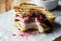Panini This / Sandwiches, cheese, melt, hot, bite, turkey, cranberry, press, lunch,