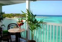 Accommodations / All accommodations are air-conditioned, single-story junior suites, with 700 square feet and classic Caribbean-style architecture and décor, all with private verandahs offering beautiful views through sliding-glass doors.