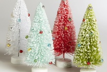 Christmas-Bottlebrush Trees & Sparklies / by Colleen Whale