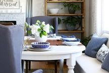 Home Dining Spaces / Dining rooms, dining tables and chairs, places to sit alone or with others to eat (or craft, or write, or work!)