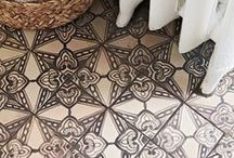 Home Floors / Treatments for floors- interior dwellings. Rugs. Boards. Tiles. Paint effects.