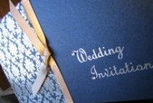 Blue wedding - by White Crafts-wedding stationery / A collection of Blue themed wedding ideas, gathered by White Crafts-wedding stationery