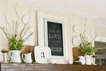 Home- Vignettes / Creating little spaces that inspire and beautify areas within the home.