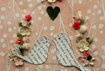 Love is in the air.. / Paper hearts and doilies for Valentin's Day decorations and gift giving / by Rachel Ramey Pasley Hamamoto