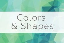 2016 Trends - Colors & Shapes / Bolder and brighter colors, balanced by greys, are popular this year. On the opposite spectrum, calming grey and blue color palettes will be in demand. Also expect to see bold patterns and a resurgence in geometrics, especially hexagons.
