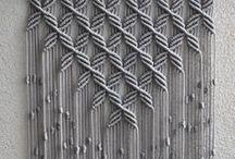 Macrame & Weaving / Macrame, knot tying, weaving, looms, string, cord & rope.