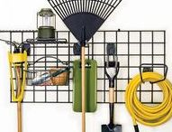 Garden Tools & Workspaces / Easy to make (or makeover) garden potting benches; organise and maintain garden tools; helpful products and tools to use in the garden.