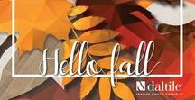 Hello Fall: Stone Looks / Fall is here! Nothing says fall like apple cider, falling leaves and tile. We are featuring some of our favorite stone-looks.