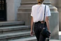STREET STYLE / Relaxed casual street style - think baggy frayed jeans, Breton stripes, lots of navy and black, bedhead hair and trainers