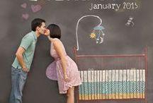 Annoncer l'arrivée de bébé / Announcing the arrival of a new baby / Découvrez de nombreuses idées pour annoncer la naissance d'un nouveau bébé. Find lots of fun ideas and stationary for announcing the arrival of a new baby!