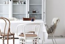 DINING SPACES / Ideas for dining spaces, from mismatching chairs, to Scandi style dining tables, minimal lighting and beautiful styling