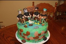 Ducky Dynasty Cakes / After turning duck calls into a multi-million dollar business, the Robertson family has taken the country by storm in the new reality TV series Duck Dynasty. Their wild personalities and crazy outdoor antics have added a whole new meaning to the word 'redneck', and these cakes are all inspired by the bush-bearded and camouflage-sportin' Robertson men! / by Cake Central