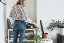 PLANTS IN THE HOME / Bring the outdoors in with houseplants and indulge your inner urban jungle blogger, from easy to keep cactuses and succulents to pretty vases of wild flowers