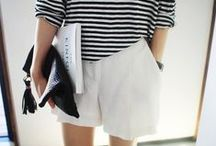 SUMMER STYLE / Easy breezy summer style – white jeans, Breton stripes, sandals and casual denim / by Cate
