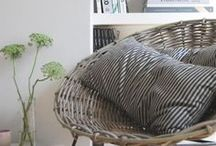 RATTAN CHAIRS / Bring the outside in with rattan chairs, a great way to mix and match vintage and modern design