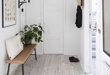 HALLWAY IDEAS / Inspiration for hallways and space saving ideas for tight narrow spaces