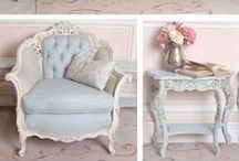 Painted Furniture / Gorgeous French and antique inspired furniture: annie sloan chalk paint, painted furniture DIY, french furniture, cottage furniture, farmhouse furniture, painting furniture DIY