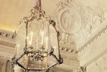 Lighting Chandeliers Lamps Lamp Shades / Lighting decor: lamp shades, antique chandelier, vintage chandelier, french chandelier, lace lamp shade, vintage lamp shade