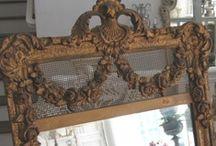 Mirrors | French Antique Vintage / Through the looking glass...French, Antique and Shabby mirrors: french antiques, french mirror, antique mirror, gold mirror, painted mirror, vintage mirror, wall mirror, wall decor