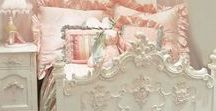 Beds Bedrooms Linens / French and Shabby Chic inspired beds: bed linens, antique beds, bedroom decor, painted beds, iron beds, french beds