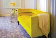 Yellow accents in interiors