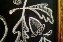 Fancy Chalkboards | Chalkboard Lettering / Chalkboards: chalkboard frame, painted chalkboard frame, chalkboard DIY, chalkboard lettering, chalkboard lettering DIY, christmas chalkboard, fall chalkboard, valentine chalkboard, easter chalkboard, summer chalkboard