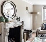 Convex mirrors in Interiors featuring Omelo Mirrors / An array of photos featuring Omelo Mirror's round convex mirrors.  Some of our own and some from our lovely clients. From large mirrors to small mirrors. Standard paint finish to bespoke mirrors