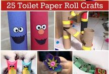 Cardboard Tube Crafts / Toilet paper rolls, paper towel rolls, wrapping paper rolls, recycled crafts!