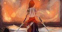 女武芸者 / 女武芸者. Onna-Bugeisha. Female Warrior. Japanese Empress. My Anime Alter Ego...  Here lies the inspiration and Cover Art for my new song -inspired by the stories of these female samurai's dating back from the Medieval Era, post 13th Century. These brave women used their skills to bring about economic and social change, and even today, their stories continue to inspire us with their honor, courage, and valor.