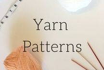 Yarn Patterns- Veronica Marae Designs / Veronica Marae Designs pinterest page with all knitting and crochet patterns. easy patterns, beginner patterns, free patterns, tutorials, and soon more.